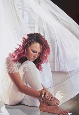 Laara Cassells, AB, Adeline, Acrylic, 38x25
