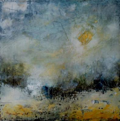 Barbara Hogenauer, PreludeII, Oil  Cold Wax, 24x24