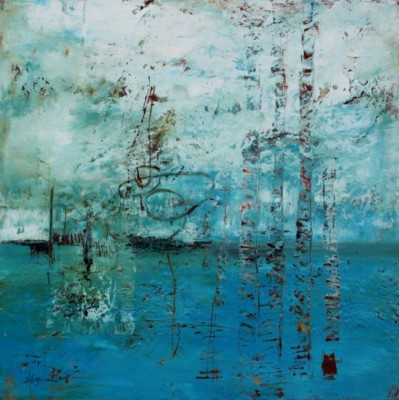 Barbara Hogenauer, Rising Up, Oil  Cold Wax, 20x20