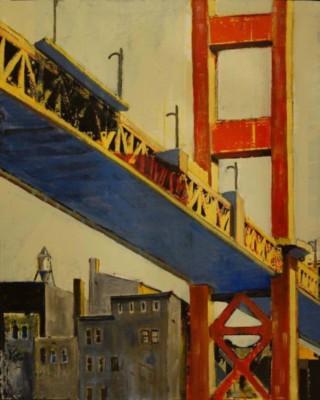 Bill Schwarz, High Tower, Acrylic, 32x26