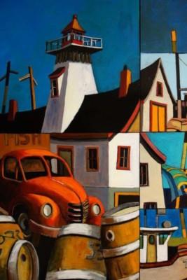 Bill Schwarz, Seaside, Acrylic, 48x36