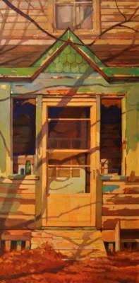 Bob Shackles, Off The Green Porch, Oil, 48x24