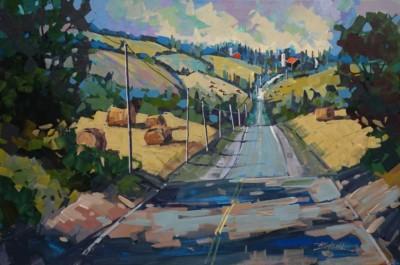 Brian Buckrell, 7 AM to Toronto, Acrylic, 24x36