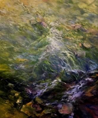 Cathy Boyd, Downstream, Oil, 48x40