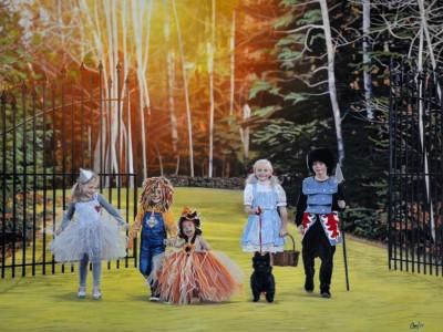 Cher Pruys, Wizard of Oz, Acrylic, 25x31.25