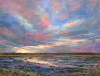 Cindy Bouwers, Divine Daybreak, Acrylic, 30x40