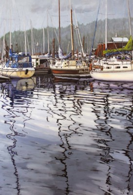 Colleen Dyson, Saltspring Island Series VIII, Oil, 36x24