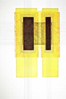 David Harrison, In Tension, WC  Graphite, 41x30