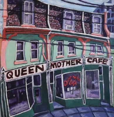 David Manuel, Queen Mother Cafe, Oil, 24x24