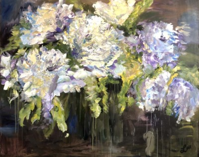 Denise Lini, Romantic Wisdom, Acrylic, 48x60