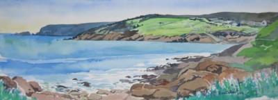 Diana Dabinett, Pouch Cove South, Watercolor, 10x29