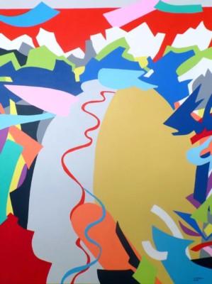 Elizabeth Elkin, Discovery, Acrylic, 48x36