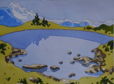 Gill Cameron, Elfin Lake, WC, 11x15