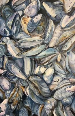 Helen Shideler, Bay of Fundy Blues, Oil, 36x24