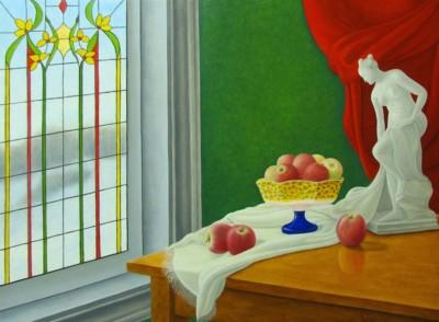Jean Claude Légaré, Les fruits de Vénus, Oil, 12x16