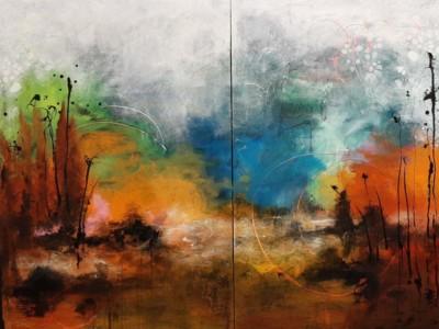 Jeanne Krabbendam, Geothermal, Mixed Media, 40x52