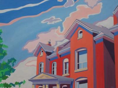 Jodi Kitto-Ward, Dwellings, Acrylic, 18x24