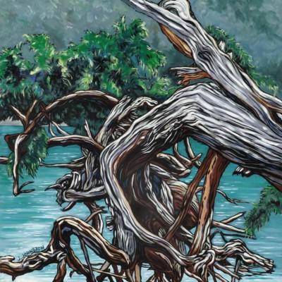Julie Johnston, Jededih Island Resistance, Oil, 36x36