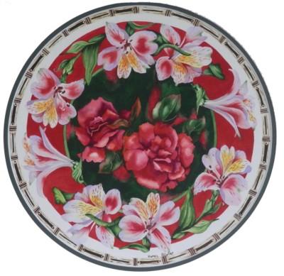 Karen Poirier, Roses, WC, 13x13