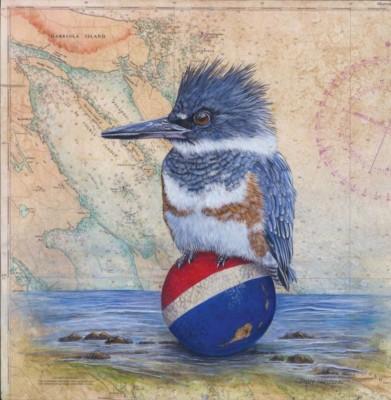 Kathy Cameron, Island Bound, Acrylic, 12x12