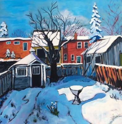 Laraine McMahon-Nelson, Apple Tree in Winter, Acrylic, 30x30