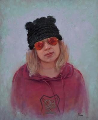 Linda LeGrice, Snow Angel, Oil, 56x46