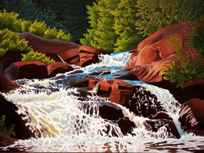 Linda Sorensen, Watersong, Acrylic, 36x48