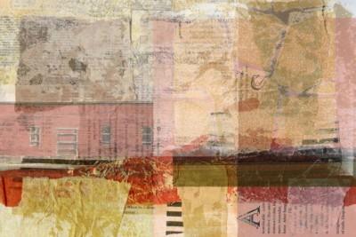 Liz Ruest, Only a Word, Digital Collage, 18x24