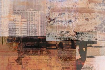 Liz Ruest, Too Deep To See, Digital Collage, 18x12