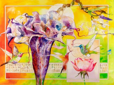 Manjit Singh Chatrik, Flower, Mixed Media, 40x30