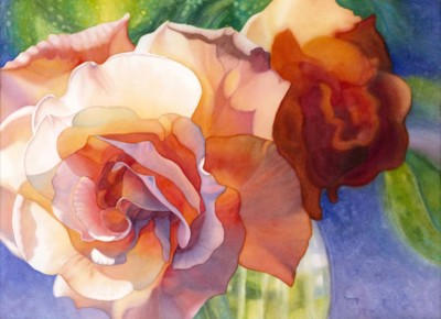 Marney Ward,Essence of Rose III, Watercolor, 21x29