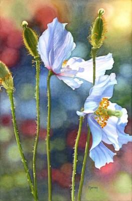 Marney Ward, Lingering Light, Watercolor, 21x14