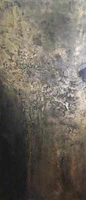 Martha Moore, Bronze and Bodacious, Acrylic, 40x18
