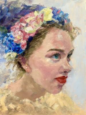 Monica Burnside, Chazzly, Oil, 9x12