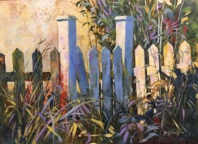 Peter Leckett, Garden Gate, Acrylic, 22x30