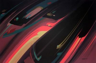 Rene Thibault, Silhouette, Acrylic, 24x36