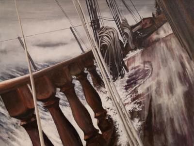 Rick Cullis, Good Wind, Oil, 24x30