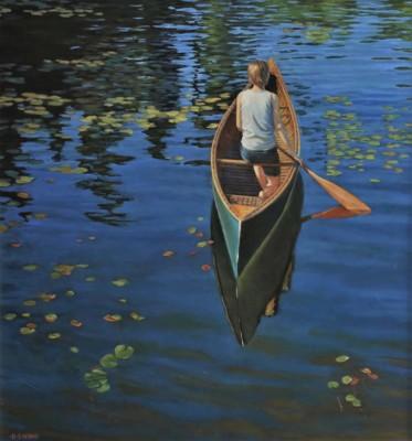 Robin Nyikos, The Shortest Path, Oil, 30x32