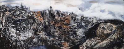 Roman Nogin, Ash, Oil, 15.75x39.5