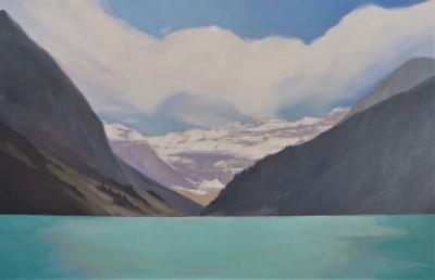 Scott MacKenzie, Lake-Louise, Oil, 30x48