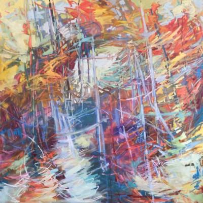 Sheila Davis, Lost in Translation, Oil, 54x54