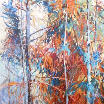 Sheila Davis, Seven Veils, Oil, 48x48