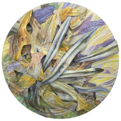 Stella Coultas, Disintegrating Garden, Acrylic