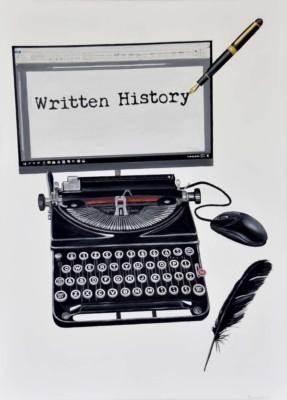 Steve Wilson, Written History, Acrylic, 36x26
