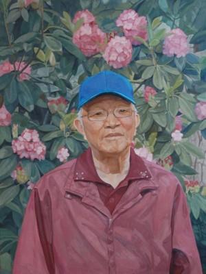 Sung Sil Park, Portrait of Ung Yol Park, 30x40