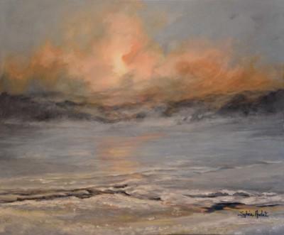 Sylvia Audet, Soleil janvier, Acrylic, 24x30