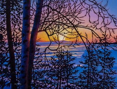 Tim Packer, Serene Light Lake Superior, Oil, 30x40