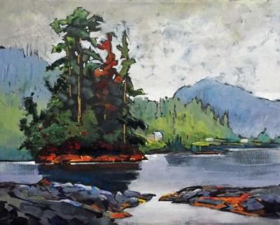 Tom Shardlow, Near Klemtu No.3, Acrylic, 16x20
