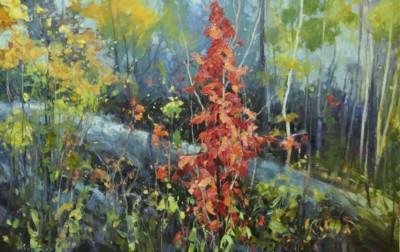 Wendy Bermingham, Lady in Red, Oil, 24x36