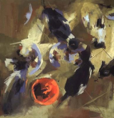 Yael Maimon, Early Breakfast, Pastel, 25.5x24.5 (1)